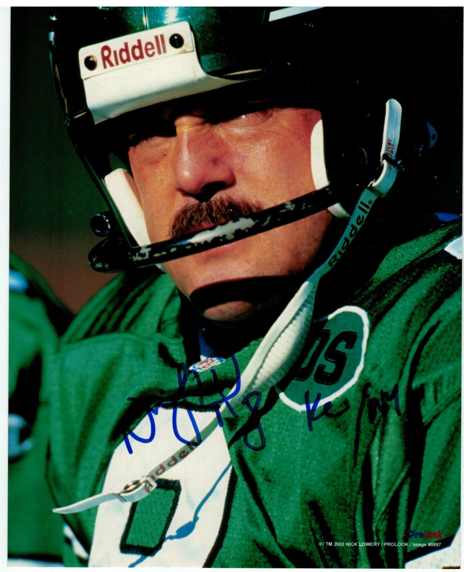 "Nick Lowery New York Jets Autographed 8x10 Photo Inscribed ""KC/NY"" PSM-Powers Sports Memorabilia"