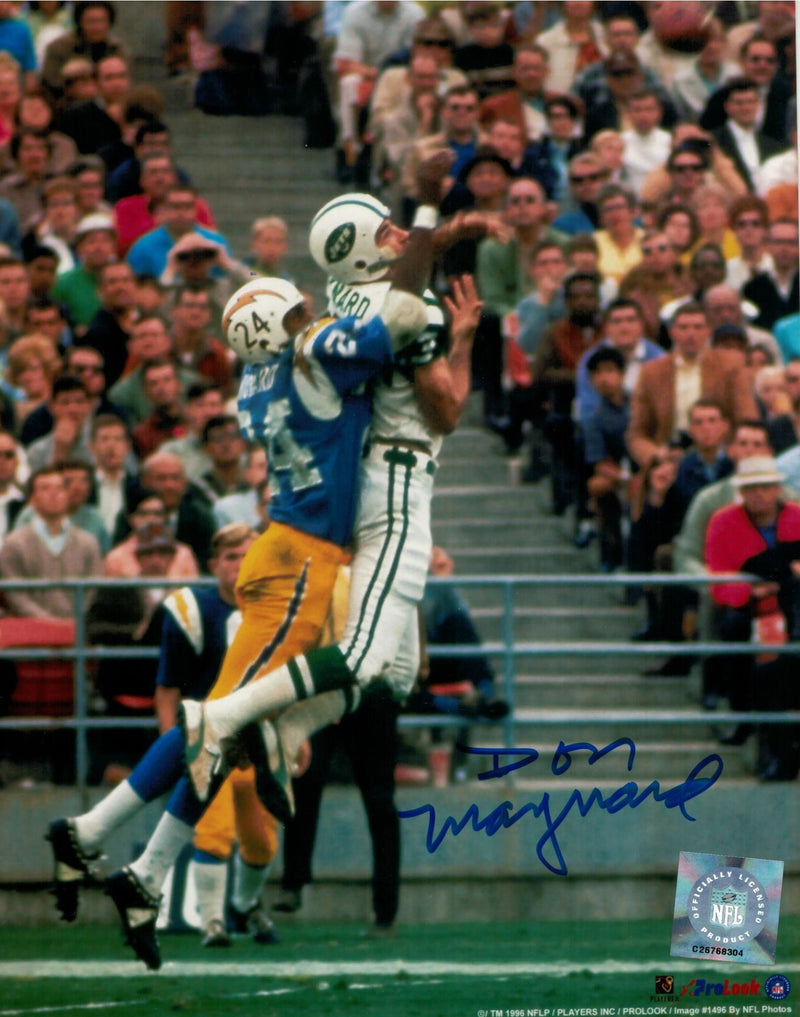 Don Maynard New York Jets Autographed 8x10 Photo PSM-Powers Sports Memorabilia
