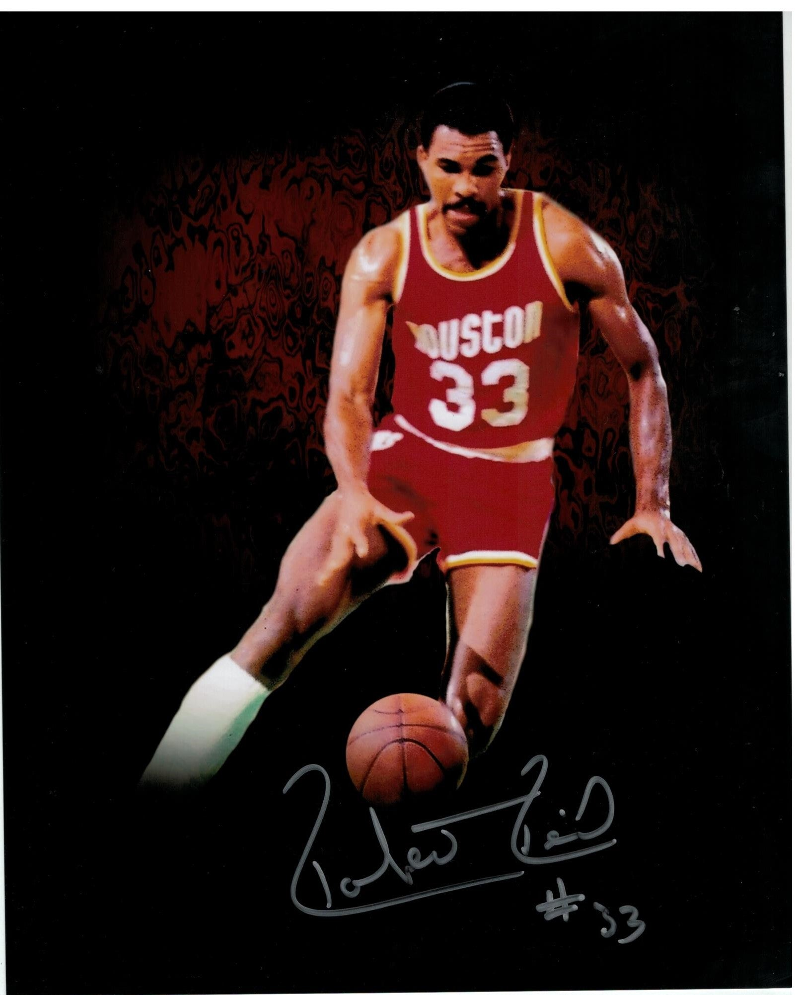Robert Reid Houston Rockets Autographed 8x10 Photo PSM-Powers Sports Memorabilia