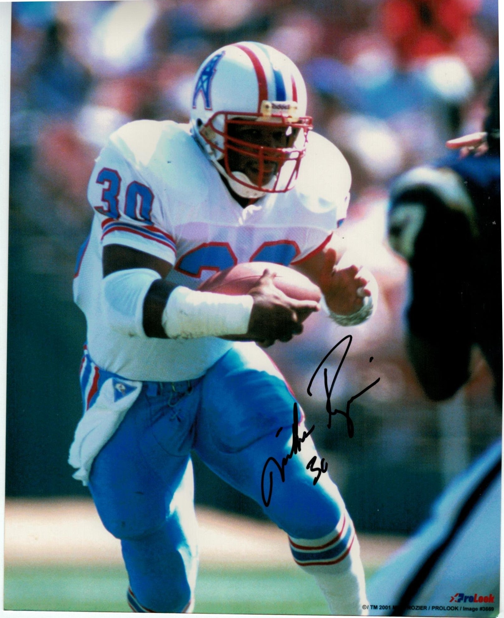 Mike Rozier Houston Oilers Autographed 8x10 Photo PSM-Powers Sports Memorabilia