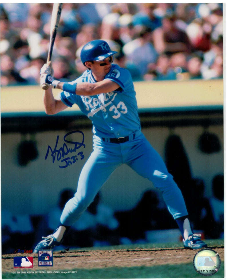 Kevin Seitzer Kansas City Royals Autographed 8x10 Photo PSM-Powers Sports Memorabilia