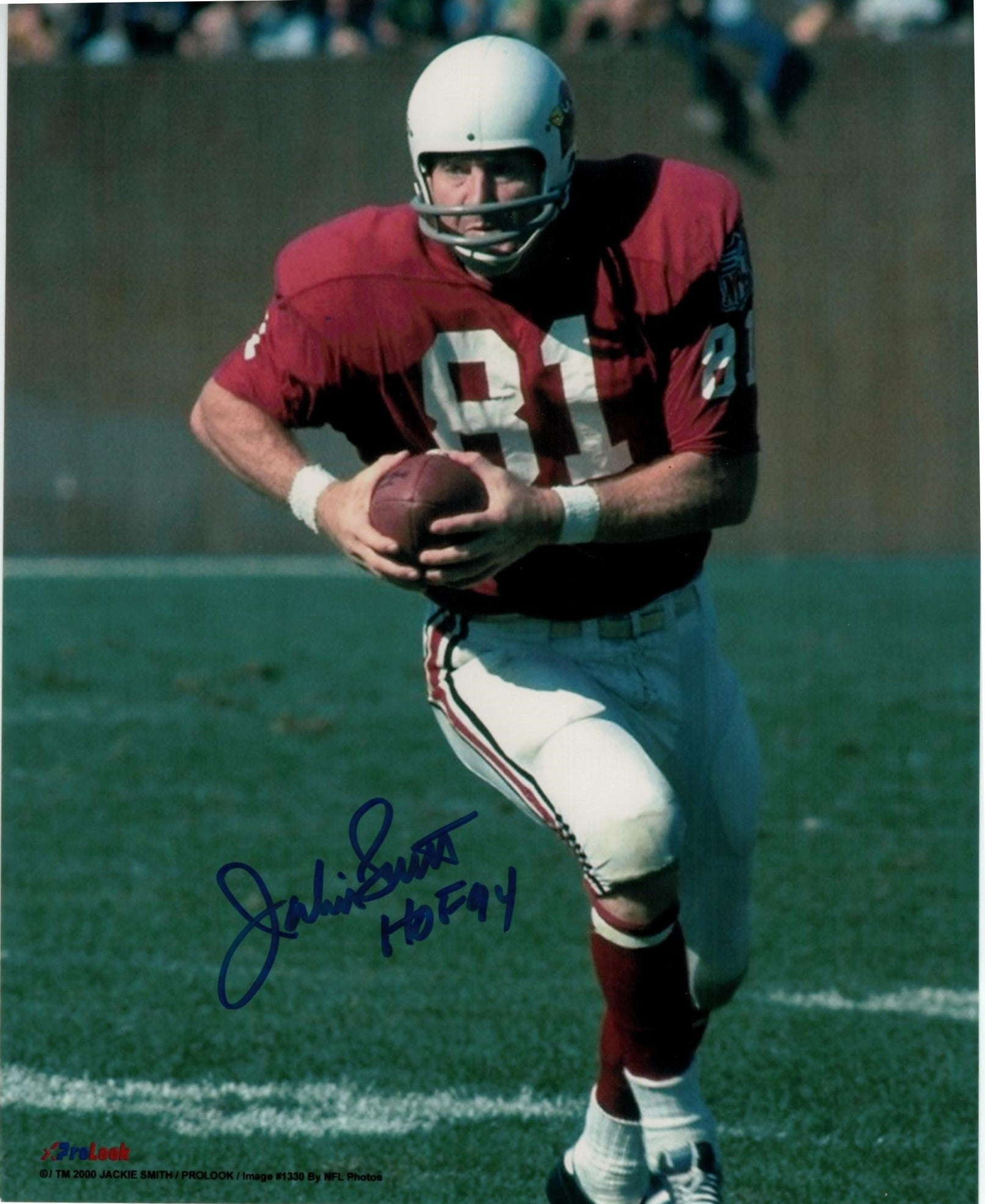 "Jackie Smith St. Louis Cardinals (football) Autographed 8x10 Photo Inscribed ""HOF 94"" PSM-Powers Sports Memorabilia"