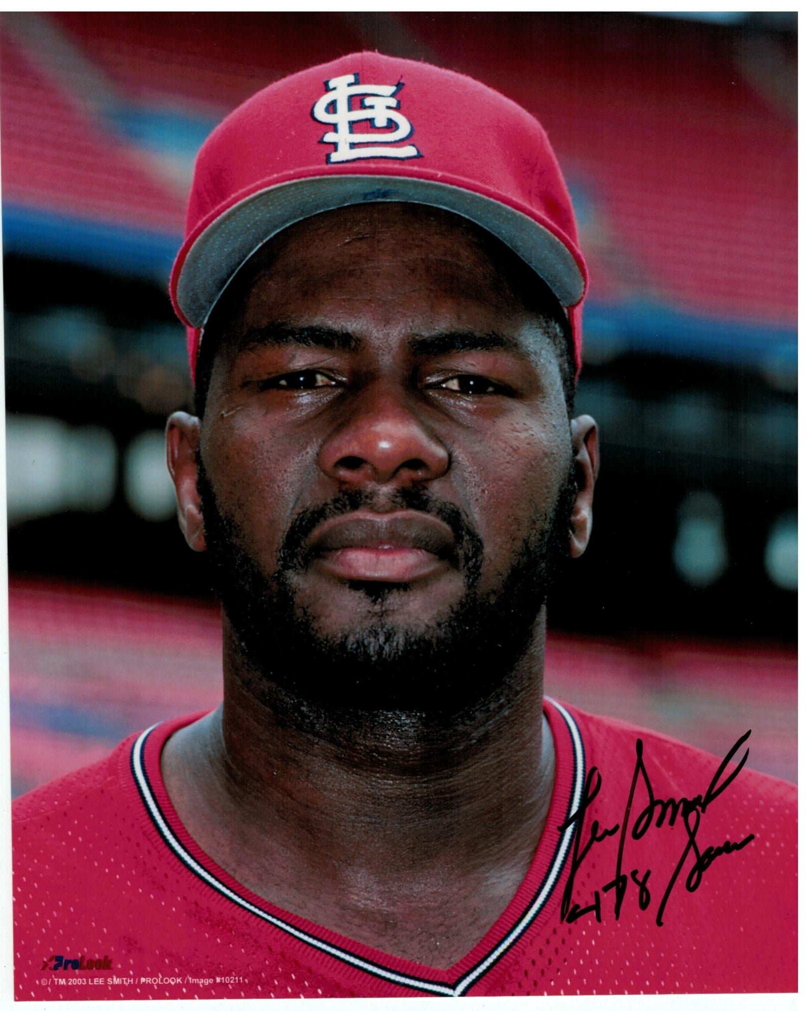 "Lee Smith St. Louis Cardinals Autographed 8x10 Photo Inscribed ""478 Saves"" PSM-Powers Sports Memorabilia"