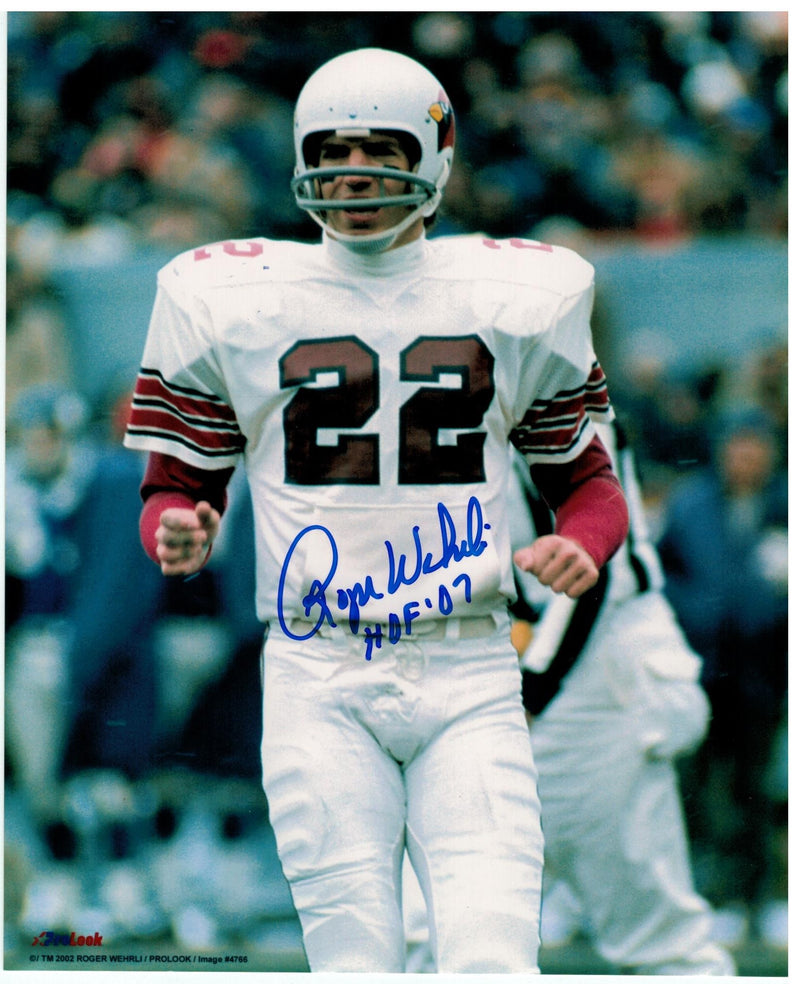 "Roger Wehrli St. Louis Cardinals (football) Autographed 8x10 Photo Inscribed ""HOF 07"" PSM-Powers Sports Memorabilia"