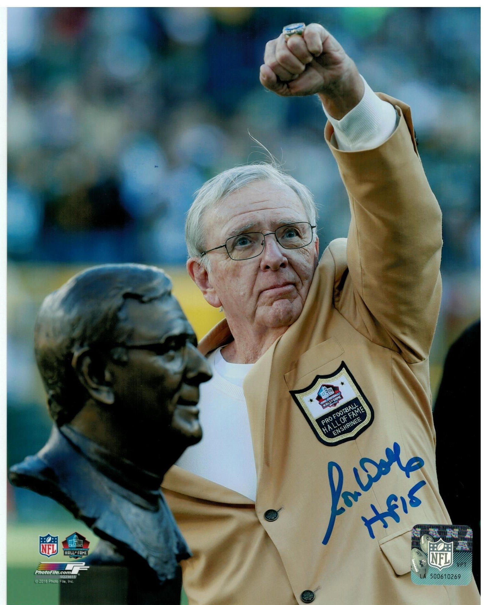 Ron Wolf Green Bay Packers Autographed 8x10 Photo PSM-Powers Sports Memorabilia