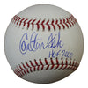 Carlton Fisk Autographed OML Baseball w/HOF 2000 Chicago White Sox/Boston Red Sox JSA PSM-Powers Sports Memorabilia