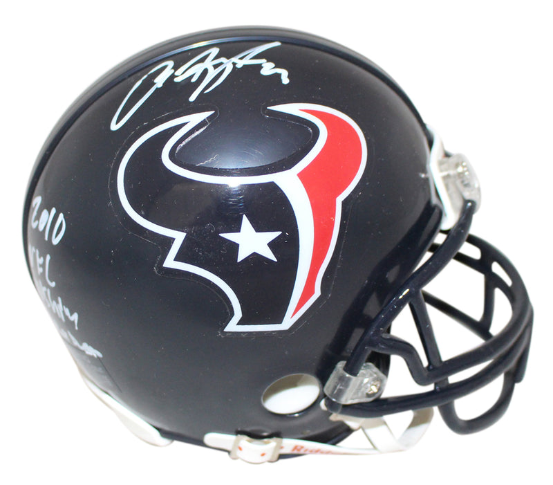 Arian Foster Autographed Houston Texans Mini Helmet 2010 Rush Leader JSA PSM-Powers Sports Memorabilia