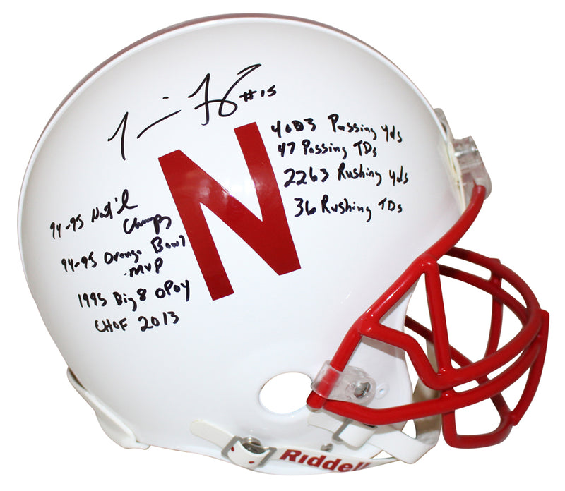 Tommie Frazier Signed Nebraska Cornhuskers Authentic Helmet 8 Insc BAS PSM-Powers Sports Memorabilia