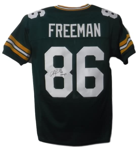 Antonio Freeman Autographed Green Bay Packers Custom Green Size XL Jersey PSM-Powers Sports Memorabilia