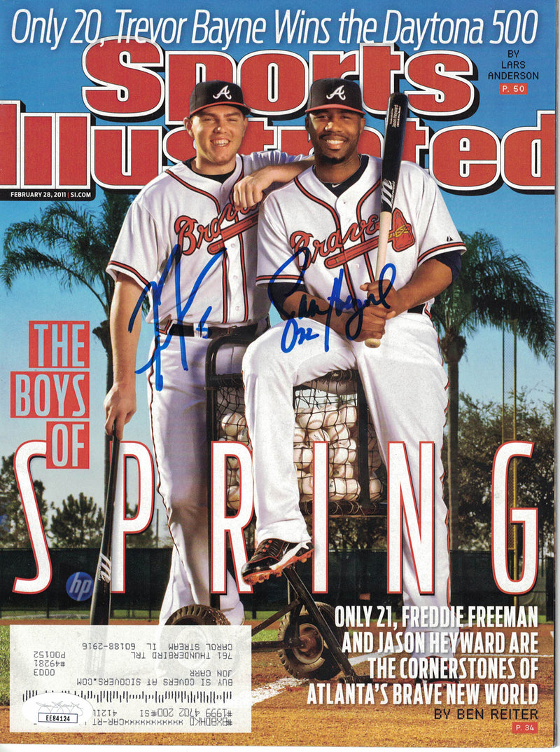 Freddie Freeman & Heyward Signed Atlanta Braves Sports Illustrated JSA PSM-Powers Sports Memorabilia
