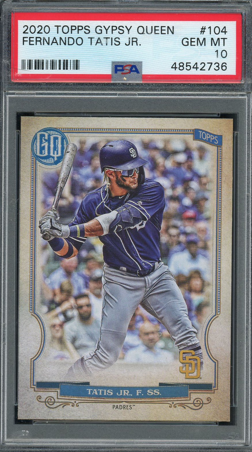 Fernando Tatis Jr San Diego Padres 2020 Topps Gypsy Queen Baseball Card #104 Graded PSA 10 GEM MINT-Powers Sports Memorabilia