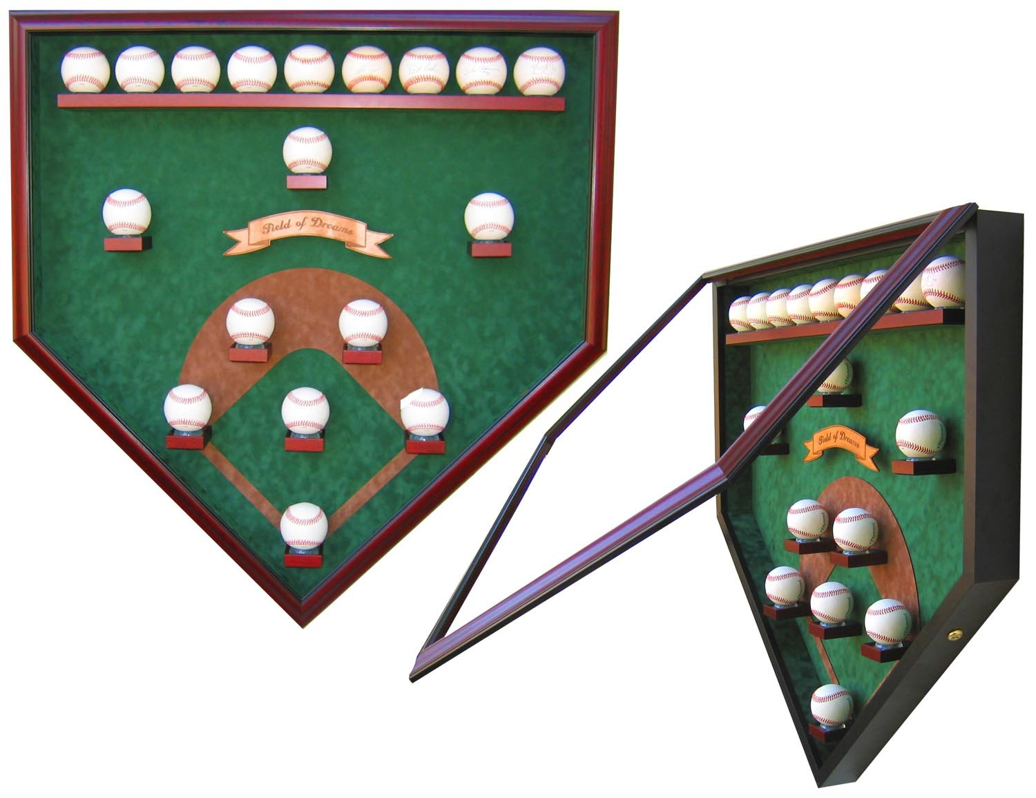 "MY FIELD OF DREAMS ""DREAM TEAM"" HOMEPLATE SHAPED DISPLAY CASE-Powers Sports Memorabilia"