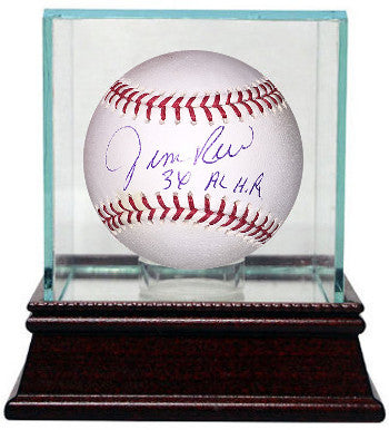 Jim Rice signed Official Major League Baseball w/ Glass Case 3X AL HR (Boston Red Sox) PSM-Powers Sports Memorabilia