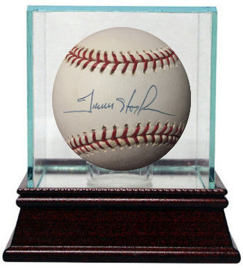 Trevor Hoffman signed Official Major League Baseball w/ Glass Case- JSA Hologram #G31481 (San Diego Padres) PSM-Powers Sports Memorabilia