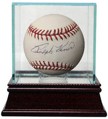 Ralph Kiner signed Official Major League Baseball w/ Glass Case- JSA Hologram #F69395 (Pittsburgh Pirates) PSM-Powers Sports Memorabilia