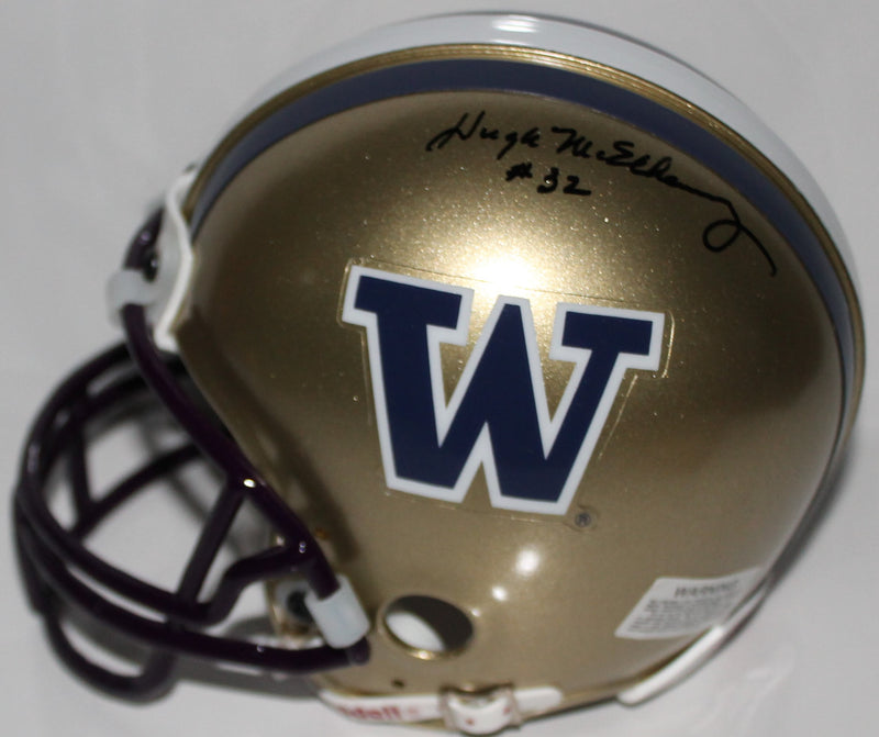 Hugh McElhenny Washington Huskies Autographed Mini Helmet PSM-Powers Sports Memorabilia