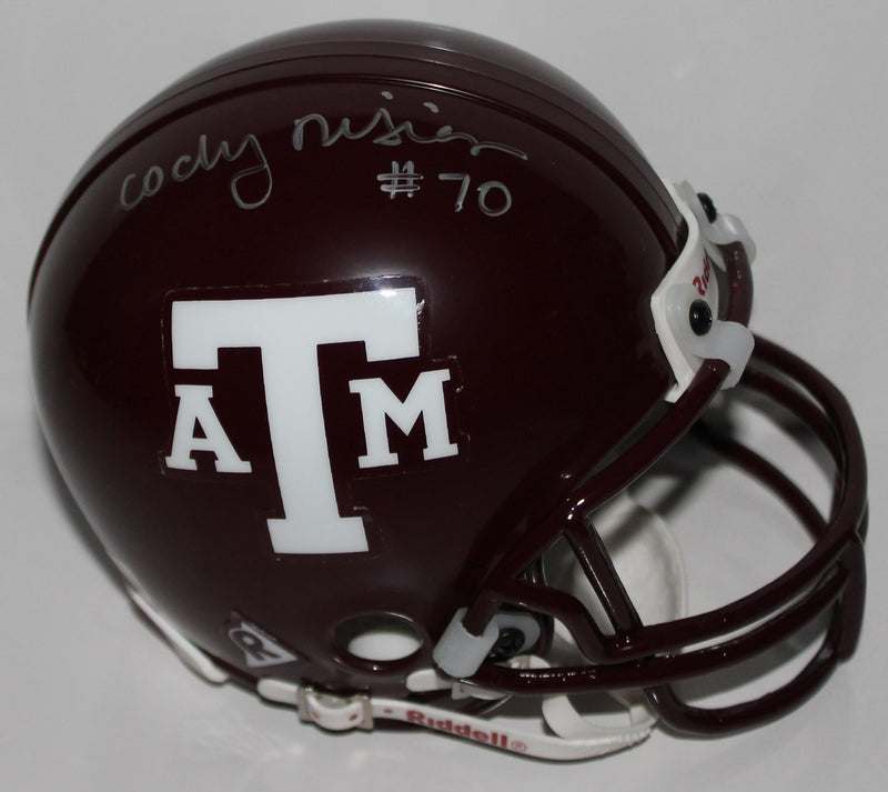 Cody Risien Texas A&M Aggies Autographed Mini Helmet PSM-Powers Sports Memorabilia