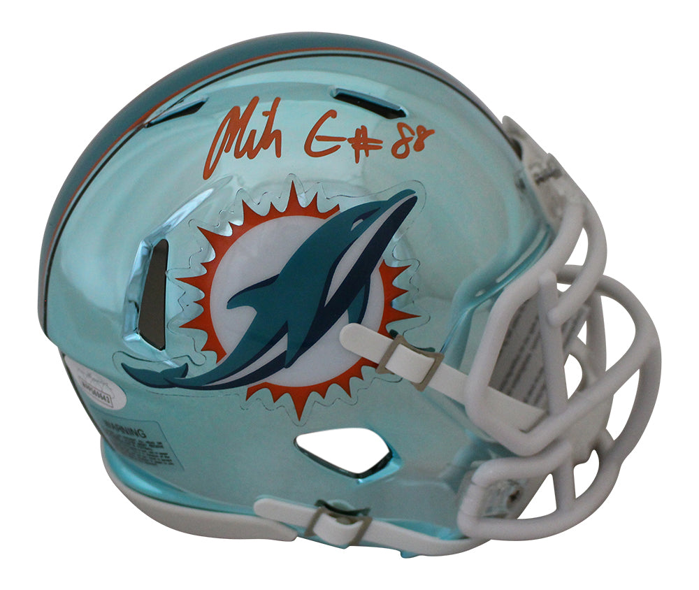 Mike Gesicki Autographed/Signed Miami Dolphins Chrome Mini Helmet JSA PSM-Powers Sports Memorabilia