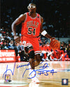 Horace Grant Signed Chicago Bulls Dribbling Action 8x10 Photo PSM-Powers Sports Memorabilia