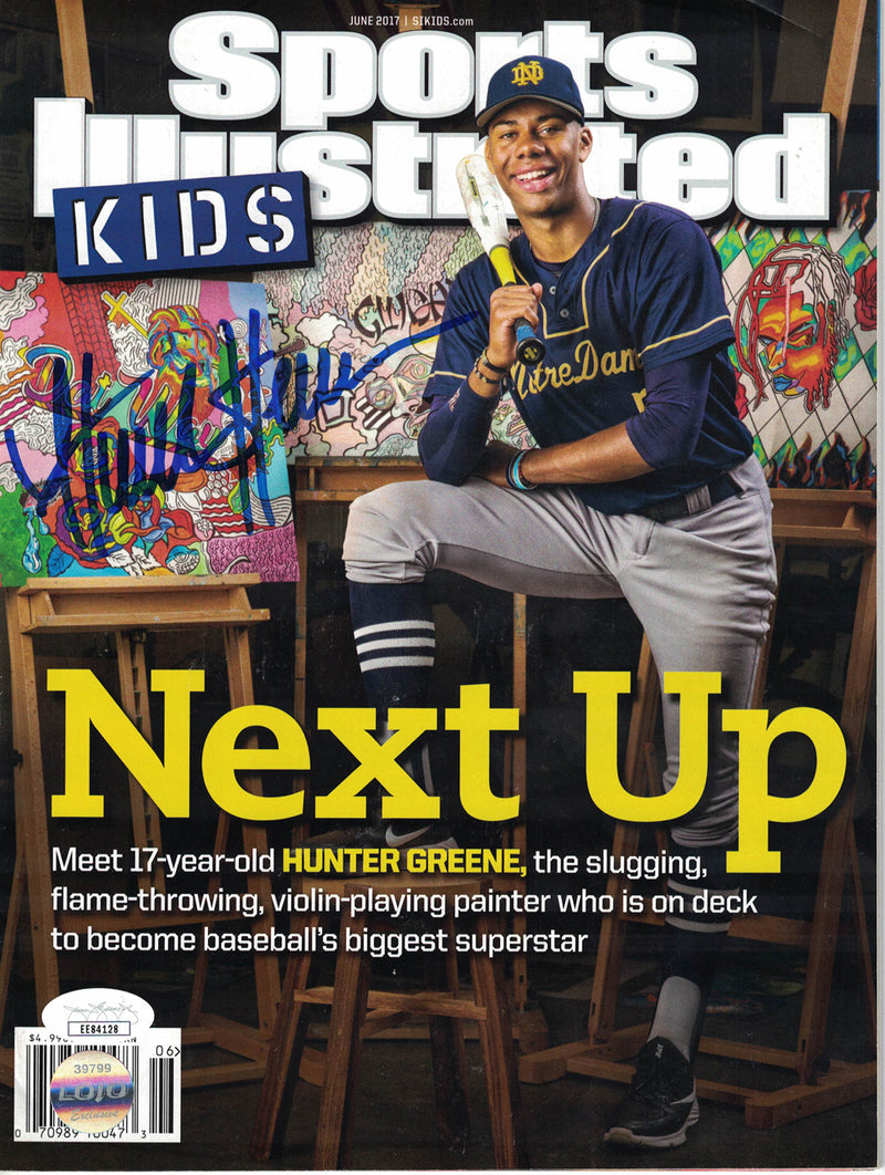Hunter Greene Signed Notre Dame Fighting Irish Sports Illustrated Kids JSA PSM-Powers Sports Memorabilia