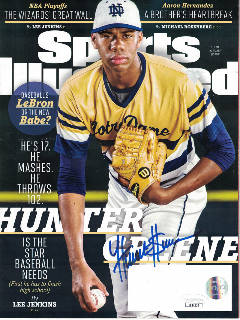 Hunter Greene Signed Notre Dame Fighting Irish Sports Illustrated JSA PSM-Powers Sports Memorabilia