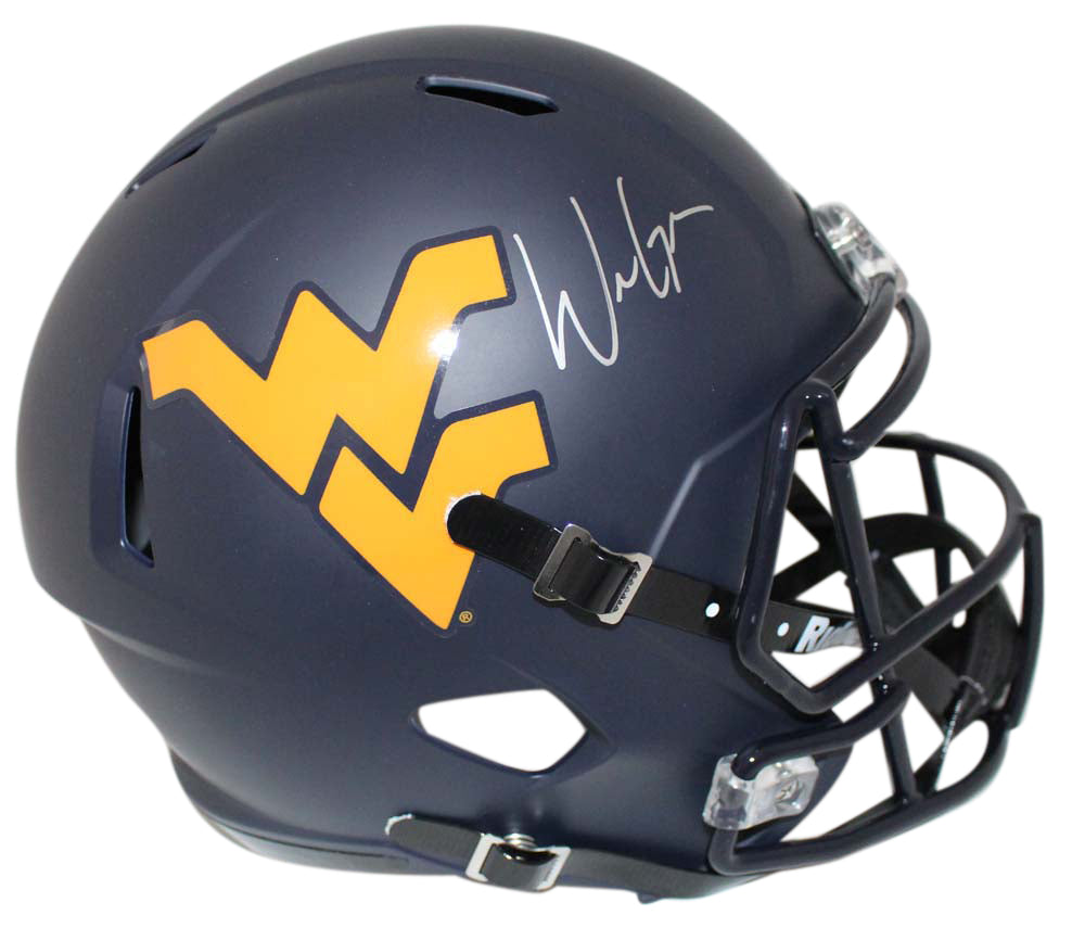 Will Grier Signed West Virginia Mountaineers Speed Replica Helmet BAS PSM-Powers Sports Memorabilia