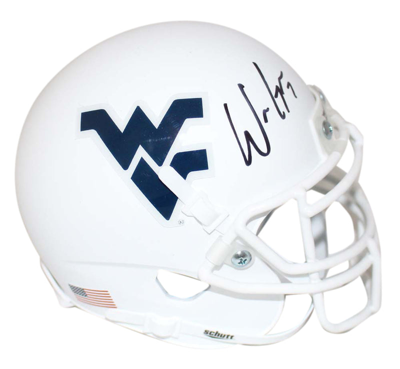 Will Grier Signed West Virginia Mountaineers White Mini Helmet BAS PSM-Powers Sports Memorabilia