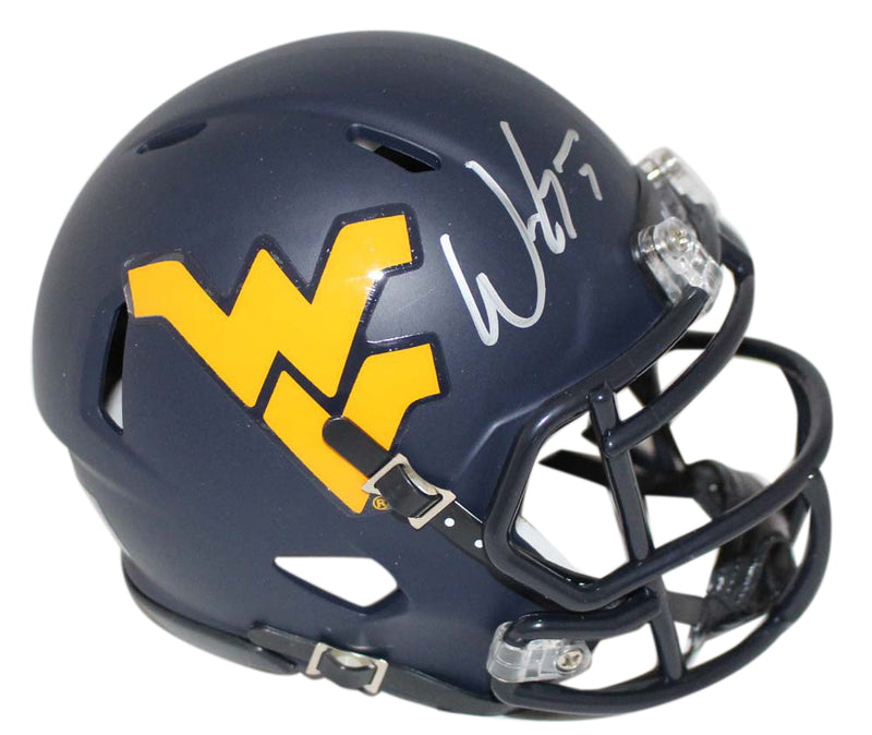 Will Grier Signed West Virginia Mountaineers Speed Mini Helmet BAS PSM-Powers Sports Memorabilia