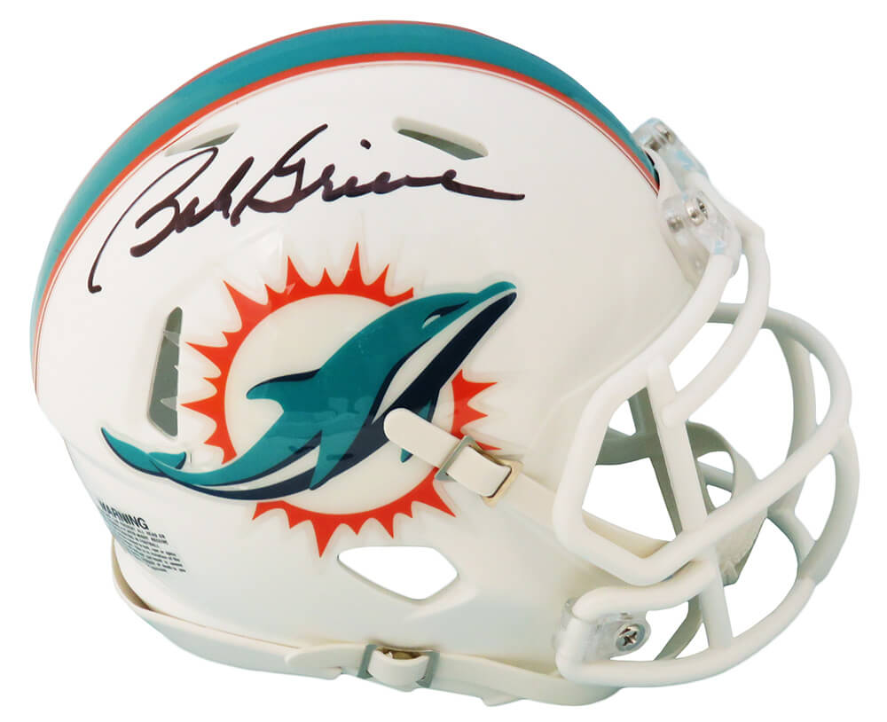 Bob Griese Signed Miami Dolphins Riddell Speed Mini Helmet PSM-Powers Sports Memorabilia
