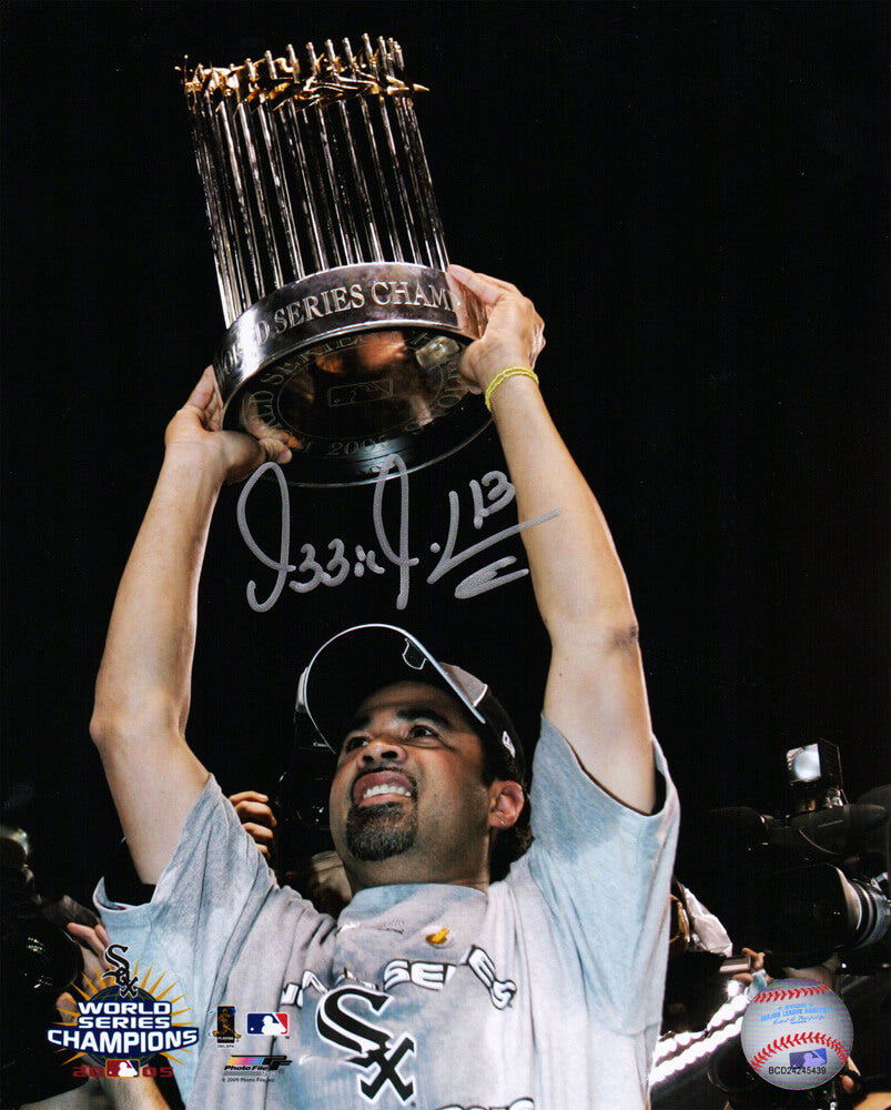 5c1176e825e Ozzie Guillen Signed Chicago White Sox 2005 World Series Holding Trophy  8x10 Photo PSM-Powers