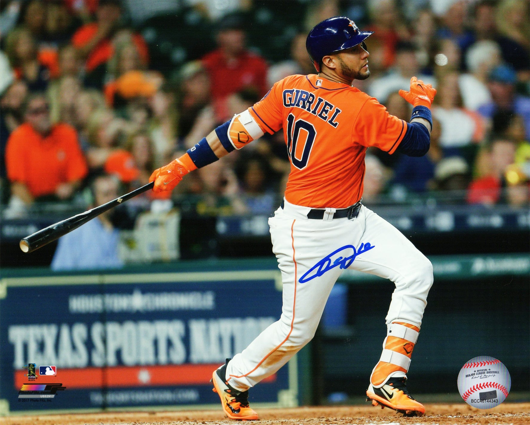 Yulieski Gurriel Signed Houston Astros Swinging Action 8x10 Photo PSM-Powers Sports Memorabilia