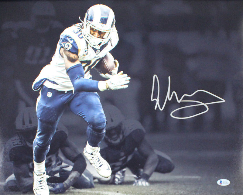 Todd Gurley Autographed/Signed Los Angeles Rams 16x20 Photo BAS 24840 PSM-Powers Sports Memorabilia