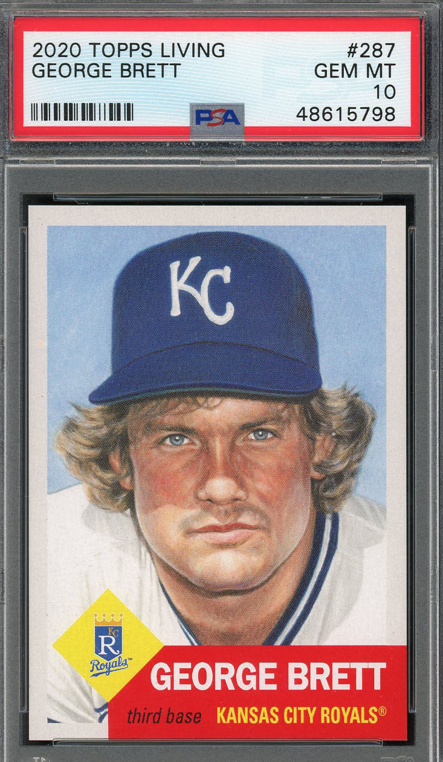 George Brett Kansas City Royals 2020 Topps Living Baseball Card #287 Graded PSA 10 GEM MINT-Powers Sports Memorabilia