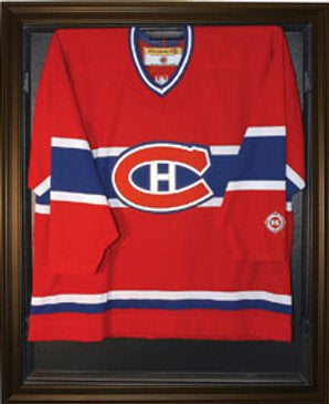 Hockey Jersey Deluxe Full Size Display Case Black PSM-Powers Sports Memorabilia