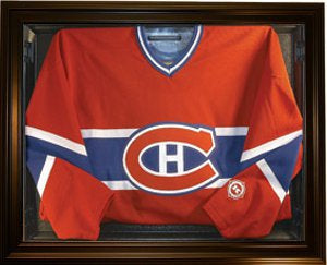 Hockey Jersey Deluxe Half Display Case Black PSM-Powers Sports Memorabilia
