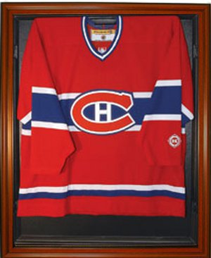 Hockey Jersey Deluxe Full Size Display Case Wood PSM-Powers Sports Memorabilia