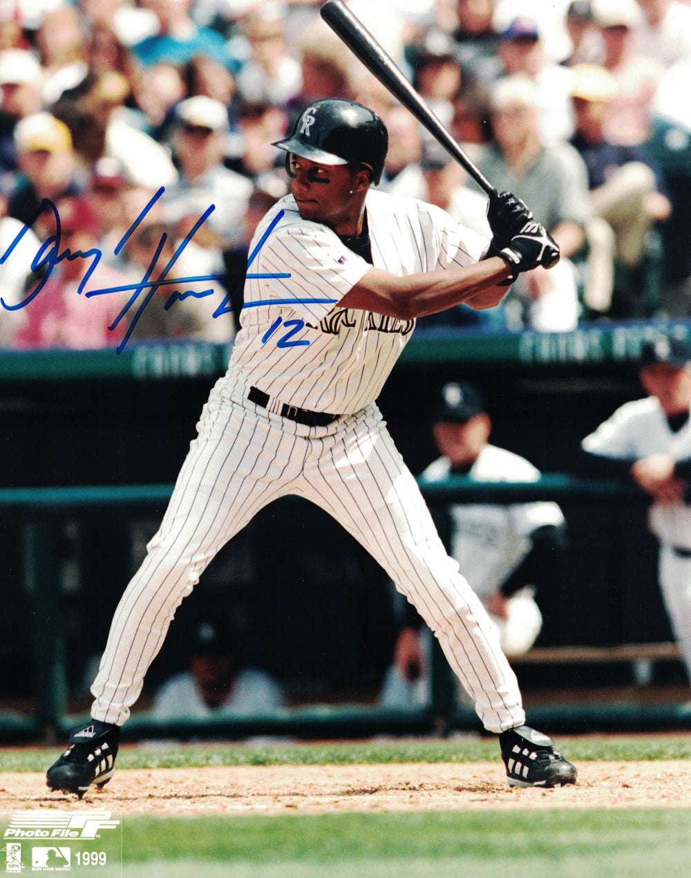 Darryl Hamilton Autographed/Signed Colorado Rockies 8x10 Photo PSM-Powers Sports Memorabilia