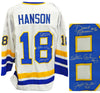 Hanson Brothers Signed Chiefs White Custom 'Slap Shot' Jersey PSM-Powers Sports Memorabilia