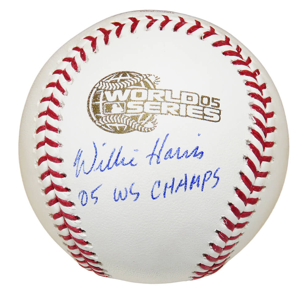 Willie Harris Signed Rawlings Official 2005 World Series (Chicago White Sox) Baseball w/05 WS Champs PSM-Powers Sports Memorabilia