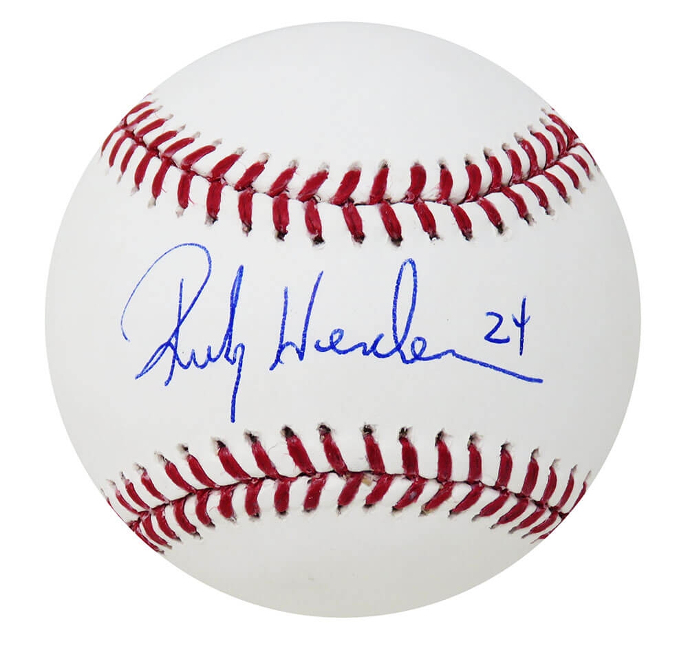 Rickey Henderson Signed Rawlings Official MLB Baseball (PSA/DNA) PSM-Powers Sports Memorabilia
