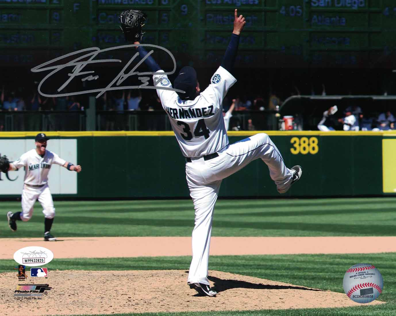 Felix Hernandez Autographed/Signed Seattle Mariners 8x10 Photo JSA PSM-Powers Sports Memorabilia