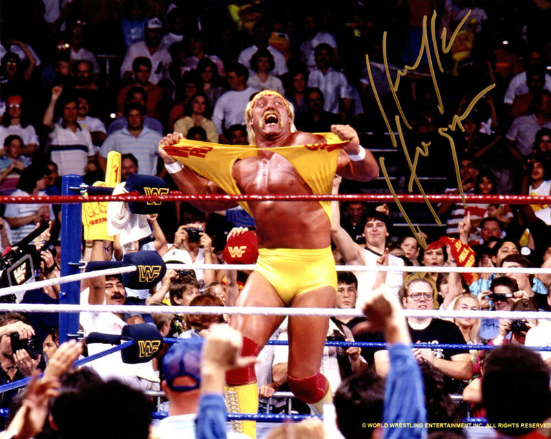 Hulk Hogan Signed WWE Wrestling Hulkamania Action 8x10 Photo PSM-Powers Sports Memorabilia