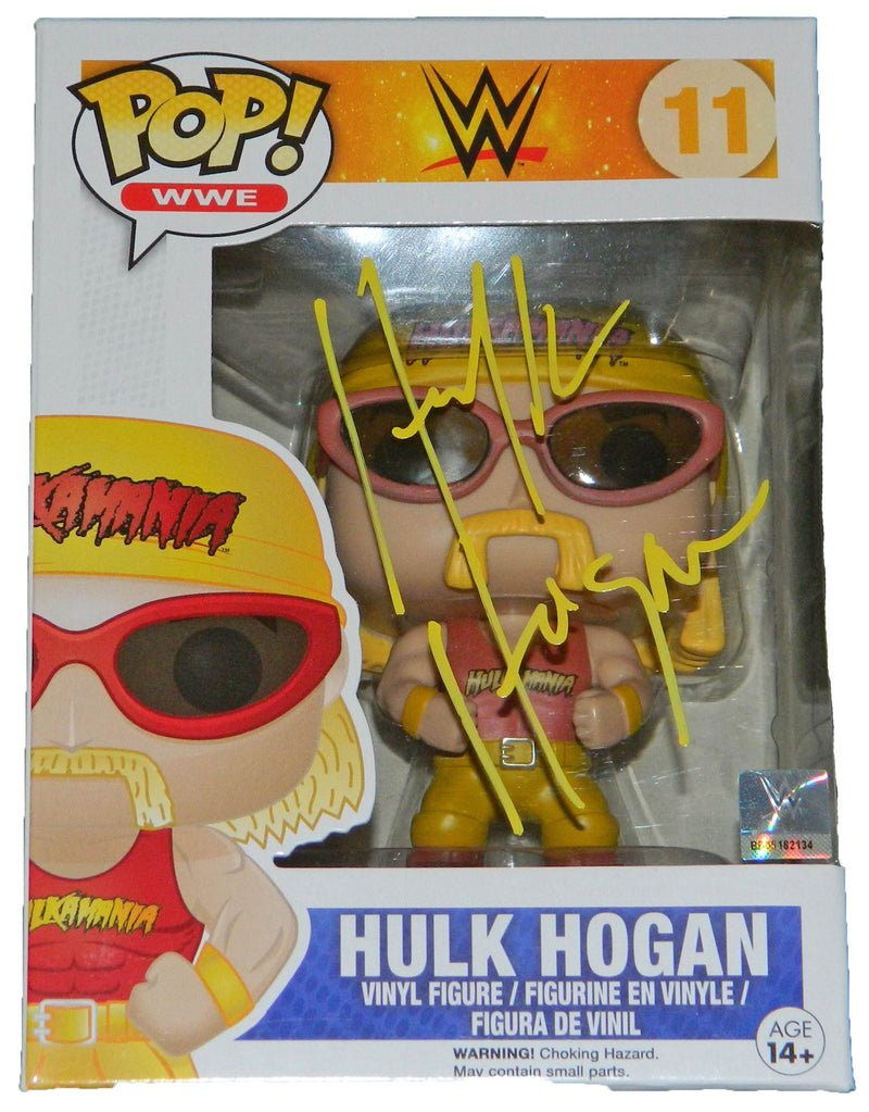 Hulk Hogan Signed WWE Funko Pop Vinyl Doll PSM-Powers Sports Memorabilia