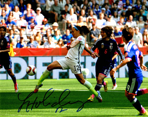 Lauren Holiday Signed USA Soccer Kicking Ball Action 8x10 Photo