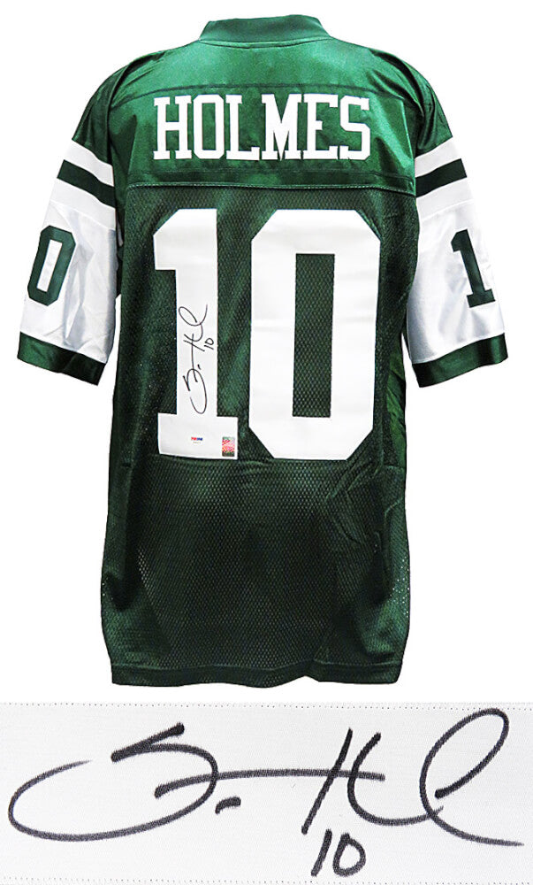 Santonio Holmes Signed New York Jets Green Reebok Prermier Football Jersey (PSA/DNA) PSM-Powers Sports Memorabilia