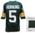 Paul Hornung Signed Green Throwback Custom Football Jersey w/HOF'86 (JSA) PSM-Powers Sports Memorabilia