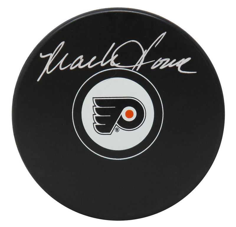 Mark Howe Signed Philadelphia Flyers Hockey Puck PSM-Powers Sports Memorabilia