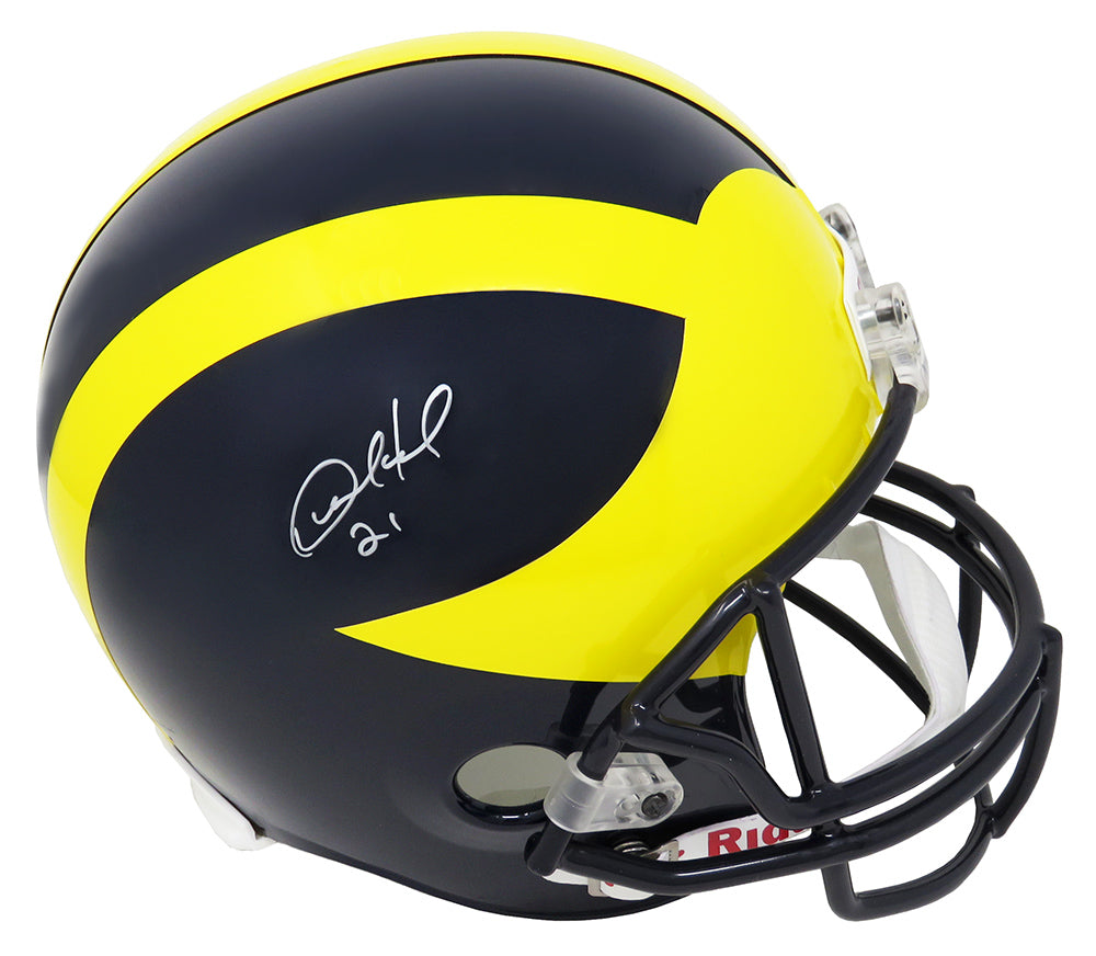 Desmond Howard Signed Michigan Wolverines Riddell Full Size Replica Helmet PSM-Powers Sports Memorabilia