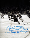 Bobby Hull Signed Blackhawks B&W 1961 Finals Action 8x10 Photo w/61 Cup Champs PSM-Powers Sports Memorabilia