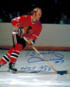 Bobby Hull Signed Chicago Blackhawks Action 8x10 Photo w/HOF 1983 PSM-Powers Sports Memorabilia